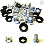 100 Pack of M6 Cage Nuts Screws Washe...