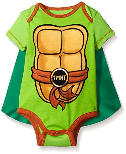 Teenage Mutant Ninja Turtles Baby Boys' Bodysuit with Cape, Green, 3-6 Months