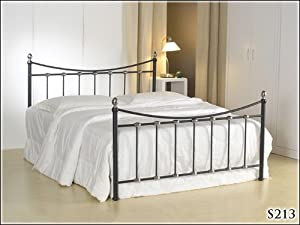BRAND NEW 5ft METAL BLACK KING SIZE BED FRAME       reviews and more information