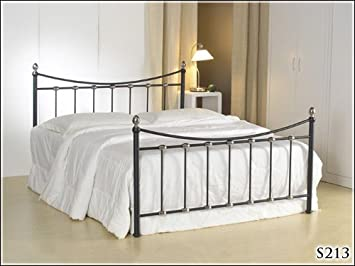 BRAND NEW 4ft 6 METAL BLACK DOUBLE SIZE BED FRAME AND SLUMBER SLEEP MEMORY FOAM MATTRESS