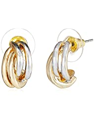 NewU Accessories Stud Earrings For Women (Golden And Silver) (30050814)