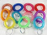 Wholesale Lot 20pcs Mixed Stretchable Spiral Wrist Coil Key Chains Hot