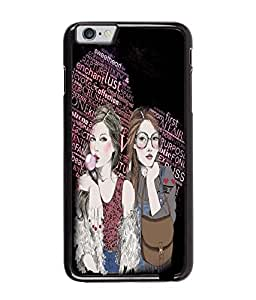 Fuson Test Pattern Gilrs Back Case Cover for APPLE IPHONE 6 PLUS - D3905