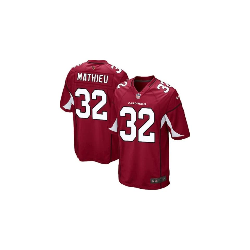 Tyrann Mathieu #32 Arizona Cardinals Red Jersey 48 XL  Sports Fan Jerseys  Sports & Outdoors