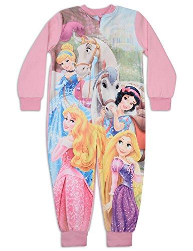 Disney Princess All In One PJs tutina pigiama In pile rosa 4 anni