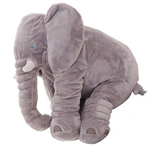 Baby Kind Grau Elefant Schlaf Kissen Stuffed Weichem Plüsch Kissen Plüschtiere