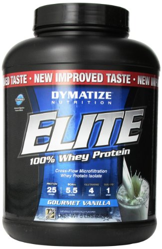 Dymatize Nutrition Elite Whey Shake, Gourmet Vanilla, 5 Pound