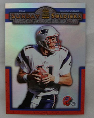 2002 Crown Royale Sunday Soldiers #3 Dew Bledsoe Buffalo Bills Nm-Mt