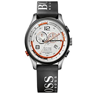 Hugo Boss Gents Stainless Steel Sports Watch with Rubber Strap