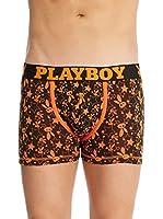 Playboy Pack x 2 Bóxers Easy Patt (Negro / Naranja)
