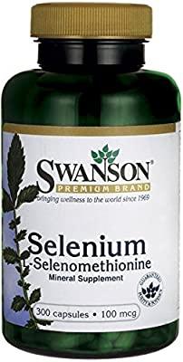 Swanson Selenium 100mcg (300 Capsules) by Swanson Health Products