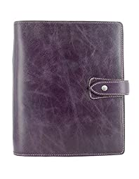 Filofax 2016 Calendar Malden Leather Organizer Agenda A5 Purple with DiLoro Jot Pad refill 025851