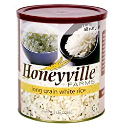 Long Grain White Rice - 6 Can Case - 30 Pounds