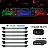 6pc Million Color Flexible Under Dash Interior Lighting Kit