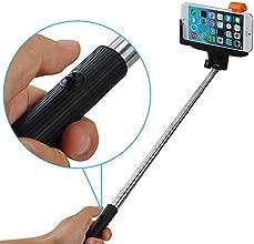 Mpow® iSnap Pro 2-en-1 selfie stick bluetooth/manche telescopique telephon/ bâton selfie/monopode smartphone/Monopied Télescopique/Autoportrait photo extensible ( 20cm-97cm )avec support de téléphone Adajustable et déclencheur à distance/déclencheur bluetooth télécommande intégré sans fil pour smartphone/téléphone portable iPhone 6,iPhone 6 Plus 5s 5c 5 4s 4,Samsung Galaxy S5 S4 S3, Note 10.1 8 3 2 Moto X, Droid 2, Google Nexus 4, 5, 7, 8 etc.