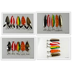 "Lot of 20 New 3"" Spoon Fishing Lures"