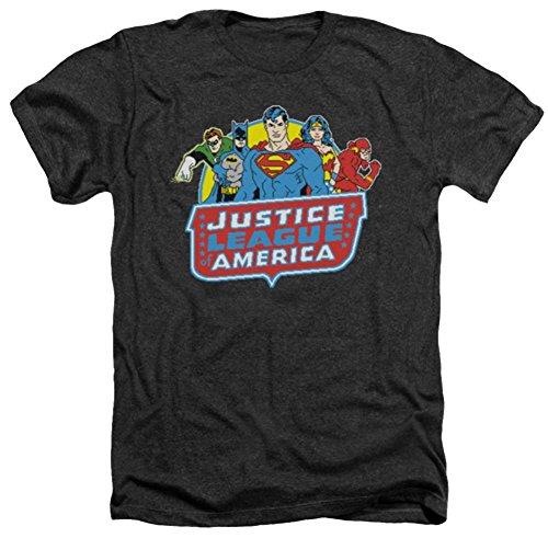 Justice League 8 Bit Leagues Heather T-Shirt