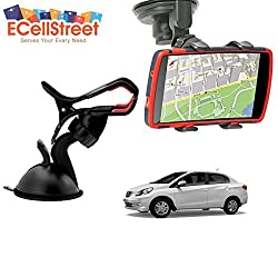 ECellStreet TM Mobile phone soft tube mount holder with suction cup - Multi-angle 360° Degree Rotating Clip Windshield Dashboard Smartphone Car Mount Holder Honda Brio