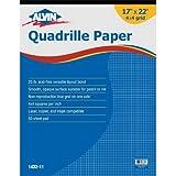 Alvin Quadrille Paper Grid Pad, Size 17 x 22 Inches (1432-11)