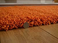Soft Touch Shaggy Orange Thick Luxurious Soft 5cm Dense Pile Rug. Available in 7 Sizes by Rugs Supermarket