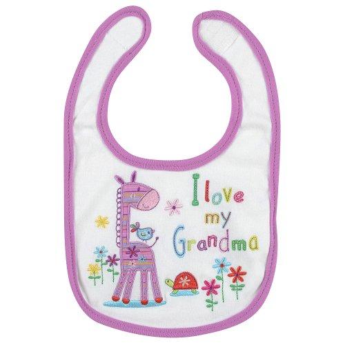 """Babies R Us Girls """"Love My Grandma"""" Bib (Pink And White Giraffe) front-585671"""