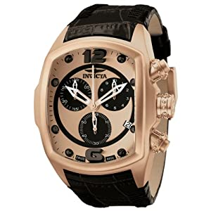 Invicta Men's 6735 Lupah Collection Chronograph Black Leather Watch at Sears.com