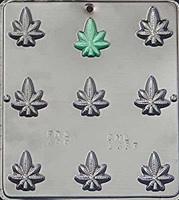 Marijuana Leaf Pot Leaf Bite Size Chocolate Candy Mold 1337