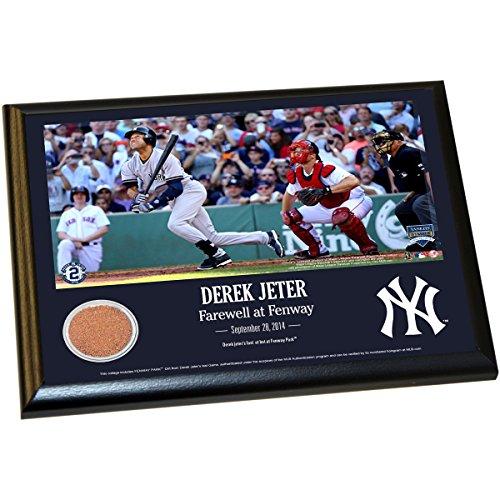 Derek Jeter Fenway Farewell Moment 8X10 Dirt Plaque front-1043186