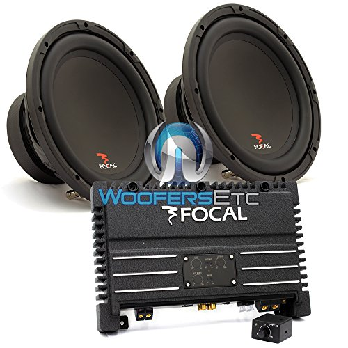 "Pkg Solid1 - Focal Monoblock 470 W Rms Power Amplifier + Pair Of Sub P25 - Focal 10"" 200W Rms 400W Max Single 4-Ohm Subwoofer"