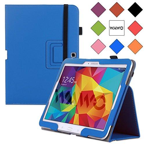 Wawo Samsung Galaxy Tab 4 10.1 Inch Tablet Smart Cover Creative Folio Case - Blue