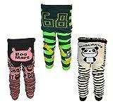 [backbuy] 3pantalones infantil niños de bebé 0-24meses Leggings pantalones punto pantalones f6g1g2 Talla:18-24 meses