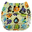 Blueberry One Size Deluxe Pocket Diapers, Monsters (Discontinued by Manufacturer)