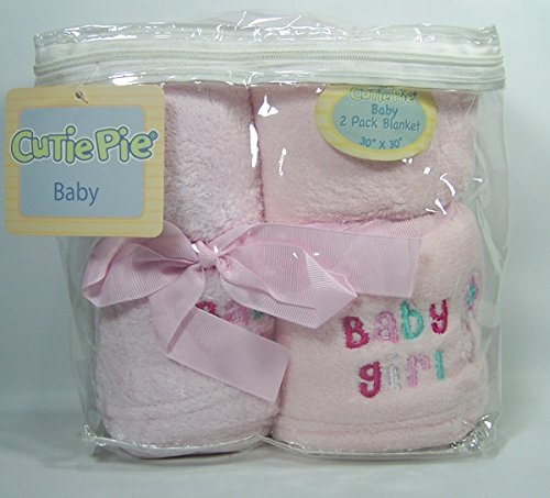 Cutie Pie Baby Blankets * Pack of Two * Baby Girl - 1