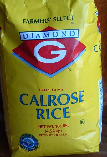 Diamond G Calrose Extra Fancy White Rice (Ten Pounds) (Hinode Rice compare prices)