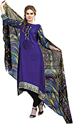 Lebaas Royal Blue French Crape Designer Straight Suit (With Discount and Sale Offer)