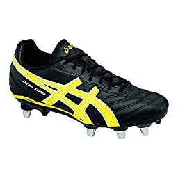 ASICS Men\'s Lethal Scrum-M Rugby Shoe, Black/Yellow/White, 13 M US