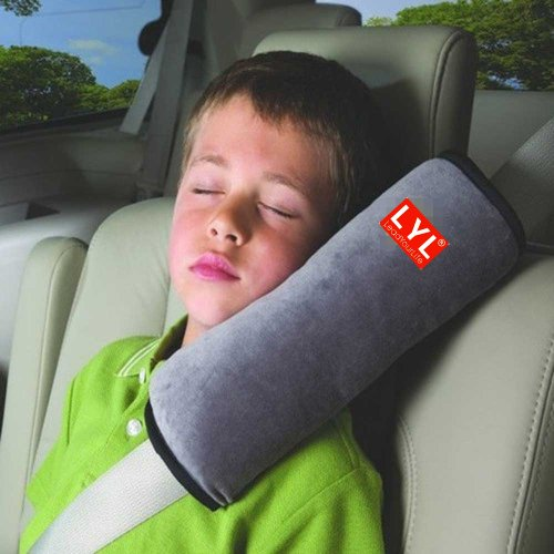 LYL® Children Baby Soft Headrest Neck Support Pillow Shoulder Pad for Car Safety Seatbelt - 1