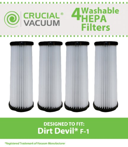 4 Dirt Devil F1 Filters, Part # 3Jc0280000, 2Jc0280000 front-626385