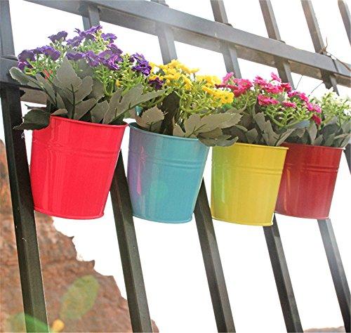 vancore-tm-secchio-in-metallo-in-vaso-a-sospensione-da-giardino-in-8-colori-assortiti-4pcs-blue-yell
