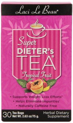 Laci Le Beau Super Dieter'S Tea, Tropical Fruit, 30-Count Box (Pack Of 4)