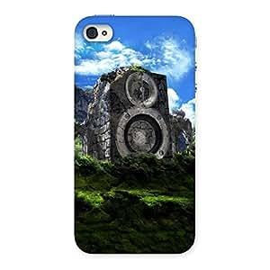 Speaker Mountain Range Back Case Cover for iPhone 4 4s