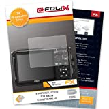 AtFoliX FX-Antireflex screen-protector for Nikon Coolpix AW110 (3 pack) - Anti-reflective screen protection!