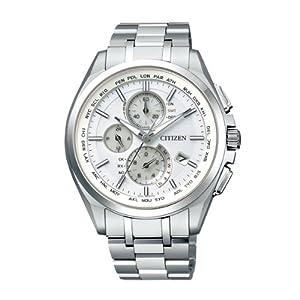 【クリックで詳細表示】[シチズン]CITIZEN 腕時計 ATTESA アテッサ Eco-Drive エコ・ドライブ 電波時計 ダイレクトフライト 針表示式 薄型 AT8040-57A メンズ: 腕時計通販