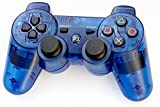 YANX Wireless Double Shock PS3 Game Controller Gamepad Joypad for Playstation 3 - Transparent Blue