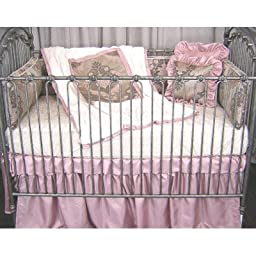 Pink Champagne 3 Piece Crib Bedding Collection