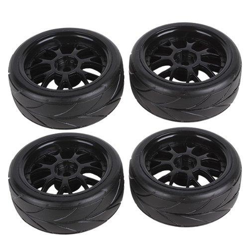 Y shape Hub Wheel Rim&Tires HSP 1:10 On-Road RC Flat Racing Car 20106 Pack Of 4