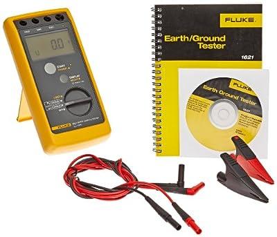 Fluke 1621 Earth Ground Tester, LCD Display, 3.7kV Voltage