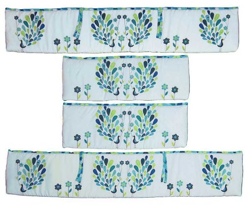 Peacock Baby Bedding 2887 front