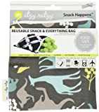 Itzy Ritzy Snack Happened Reusable Snack Bag Urban Jungle (Blue)