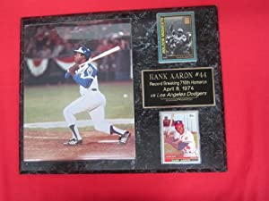 Hank Aaron Atlanta Braves HOMERUN #715 2 Card Collector Plaque w 8x10 Photo by J & C Baseball Clubhouse